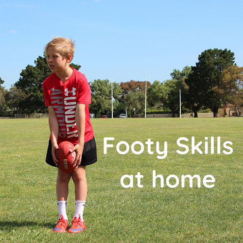 Footy skills from home