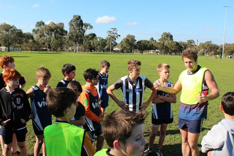 Campbell Brown At Vida Footy Holiday Camp